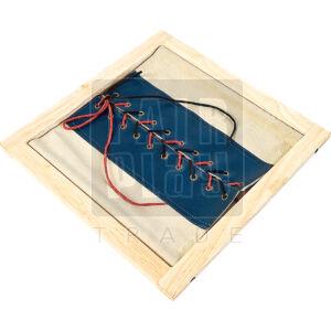 Öltöztető keret - cipőfűzés