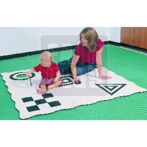 3D kreatív szőnyeg -fekete-fehér