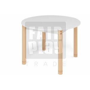 Neo színes kör asztal állítható lábakkal - fehér