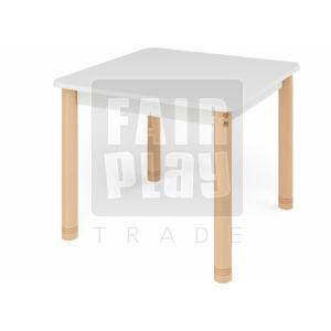 Neo színes négyzet asztal állítható lábakkal - fehér