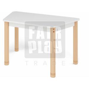 Neo színes téglalap asztal állítható lábakkal - fehér