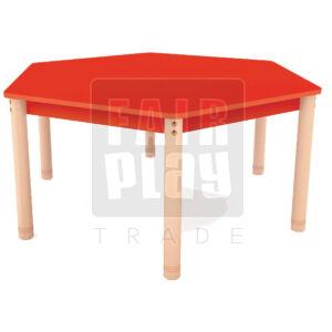 Neo színes hatszögletű asztal - Több színben