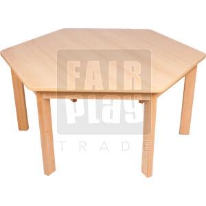 Fair Play hatszögletű asztal - Több színben és méretben