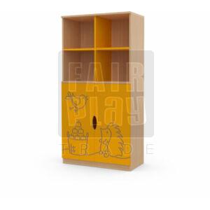 Koko alul ajtós 4 fakkos szekrény - süni