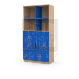Koko alul ajtós 4 fakkos szekrény - világítótorony