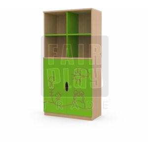 Koko alul ajtós 4 fakkos szekrény - béka