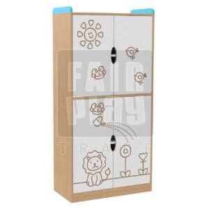 Manó bölcsis alul-felül ajtós szekrény