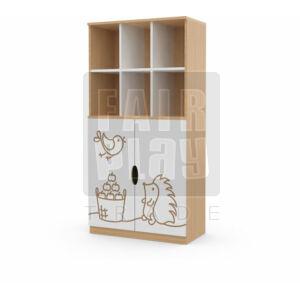 Koko alul ajtós 6 fakkos szekrény - süni
