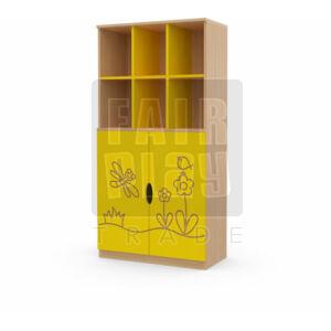 Koko alul ajtós 6 fakkos szekrény - szitakötő