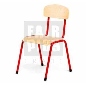 Fémlábas szék - Piros