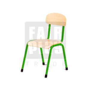 Fémlábas szék - Zöld