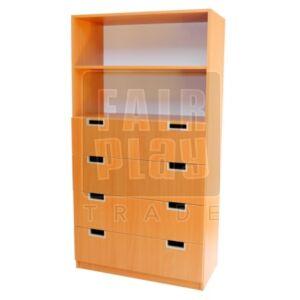 Peti fiókos szekrény
