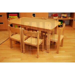 Téglalap asztal 6 székkel