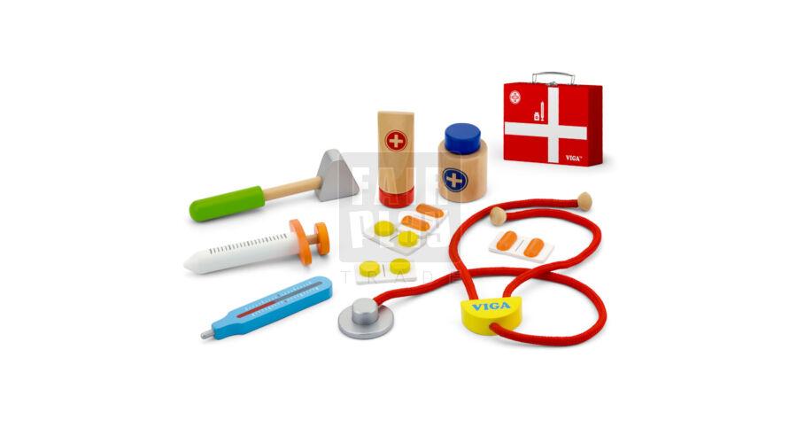 Fa orvosi táska szett - Orvosos játékok - Óvodai eszközök szakértője ... 4126051a4b